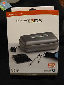 Nintendo 3DS Official Explorer Starter Kit - Gray - Earbuds Car Adapter Stylus