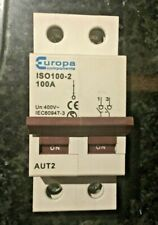 Europa Components 100A D Pole Main Switch Isolator 50Hz ISO100-2 VGC