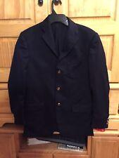 Men's Roberto Zanieri Navy Blue Lined Blazer Suit Top Sport Coat Made In Italy
