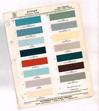 1962 Mercury exterior COLOR CHIP SAMPLE PAINT CHART Brochure