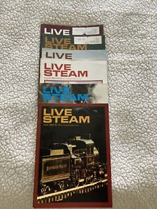 Lot of 6 Live Steam Magazines from 1980 USED, good condition