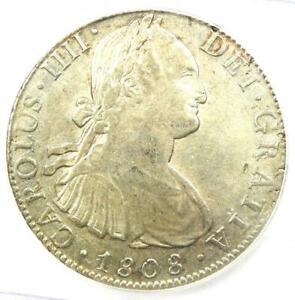 1808-MO TH Mexico Charles IV 8 Reales Coin (8R) - Certified ICG AU58 - Rare!