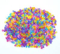 10000 Mix Acryl Doppelkegel Perlen Bicone Rhomben Facettiert Beads 4x4mm L/P