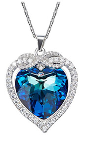 """SILYHEART """"Eternal Love"""" Bowtie 925 Sterling Silver Pendant Necklace"""