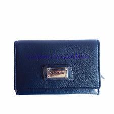 OROTON Kiera High Fold New Clutch Wallet Purse Leather Navy Tags Box