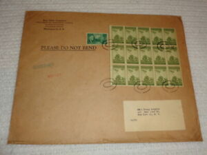 1946 Post Office Department Philatelic Agency Envelope with 15 Iwo Jima Stamps