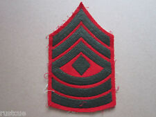1st Sergeant Rank Insignia Woven Cloth Patch Badge