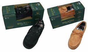 Gold Toe Men's Carter Moccasin Memory Foam Indoor/Outdoor Sole Slippers NIB