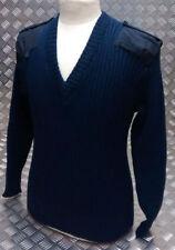 Maglioni e cardigan da uomo blu in lana con scollo a v