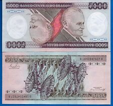 New listing Brazil P-202 5000 Cruzeiros Year Nd 1981-1986 Uncirculated Banknote