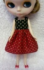 Blythe Doll Outfit black red Dress