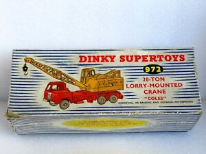 DINKY 972 20 TON COLES LORRY CRANE FOR RESTORATION OR CODE 3. COMES WITH BOX.