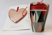 Starbucks Christmas Tree Ornaments Modern Trees Cup/Rose Gold Heart Holiday 2017