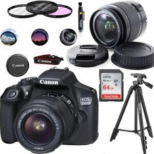 Canon EOS 1300D 18Mpx Camera Digitale Obiettivo EF-S 18-55mm Nera con Accessori