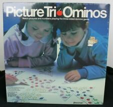 NEW Picture Tri-Ominos Kids Classic Edition Matching Game Ages 4-8 VTG Rare HTF