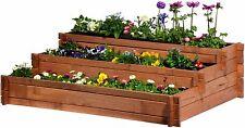 XL Hochbeet 3 Etagen Pflanzkasten Tischbeet Blumenbeet Pflanzbeet Gemüsebeet