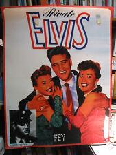 Private Elvis - Elvis Presley - Poster - Plakat - Promoplakat zum Buch - SELTEN