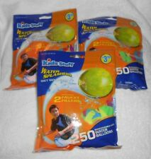 Lot of 3 Pkgs. Kids Stuff Water Balloons and Faucet Fillers - Brand NEW, Sealed