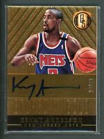 2014-15 KENNY ANDERSON 26/99 AUTO PANINI GOLD STANDARD ETCHED IN GOLD AUTOGRAPHS