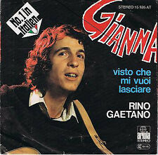 "Rino Gaetano Gianna 7"" Single Vinyl Schallplatte 53287"