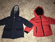 Baby Boy Bundle Winter Jacket Age 6-9 Months Blue Red Jackets Padded
