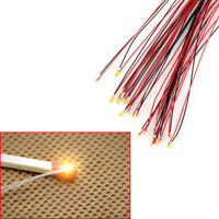 T0603WM 20pcs Pre-soldered micro litz wired leads Warm White SMD Led 0603 NEW