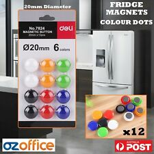 Fridge Magnets 12 x Colour Dots Whiteboard Magnets Kitchen Fridge Magnet Polka