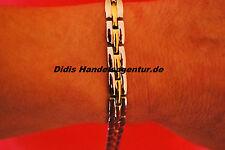 Magnet Armband Magnetarmband Bicolour 7 Magnete Silber Gold