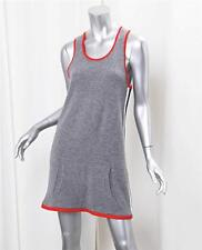 CHANEL Womens Gray Cashmere Stripe Knit Sleeveless Shift Tunic Mini Dress 40/8