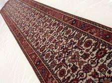 """2'.8"""" X 13'.7"""" Ivory Red Heriz Persian Oriental Wool Rug Long Runner Handmade"""