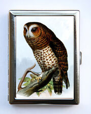 Owl Bird Cigarette Case Wallet Business Card Holder id case hipster retro