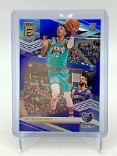 2019-20 Donruss Elite Ja Morant Blue Parallel RC #'d 64/99 Grizzlies Card #118