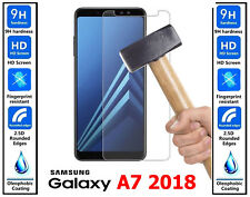 Genuine 100% TEMPERED GLASS HD Screen Protector Cover For Samsung Galaxy A7 2018