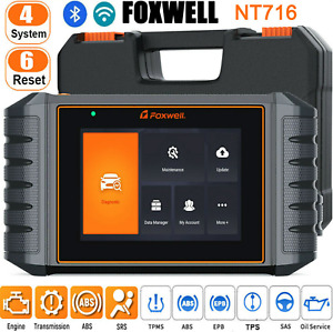 FOXWELL NT716 OBD2 Car Diagnostic Scanner Tool ENG AT ABS SRS OBD 2 Code Reader
