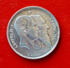 Belgique - Léopold II - Très Jolie  1 Franc  1880   - Cinquantenaire (4)