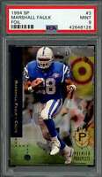 1994 sp foil #3 MARSHALL FAULK indianapolis colts rookie card PSA 9