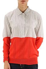 Paul Smith Hemd die Hälfte Jersey Reine Seide Gr 44, Pure Ziehen Größe L
