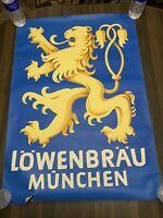 """Vintage Lowenbrau Munchen Poster 33""""x24"""""""