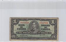 CANADA 1$ DOLLAR 2-1-1937 N° 8117026 PICK 58 d
