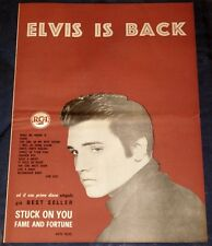ONE OFF > Elvis Is Back Italy only 50x35 insert RCA AD/Poster May-1960 army era
