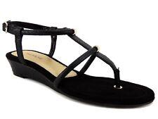 Alfani Women's Castane Demi Wedge Thong Sandals Black Snake Print Size 5 M