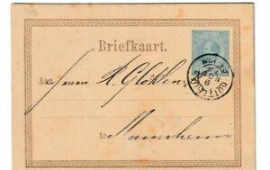 Netherlands Postal Stationery: early postal card Rotterdam 9NOV76 to Germany