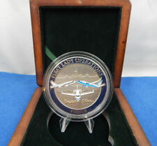 """MICHELLE OBAMA FIRST LADY CHALLENGE COIN  2.00""""  IN 4"""" PRESIDENTIAL WOOD BOX"""