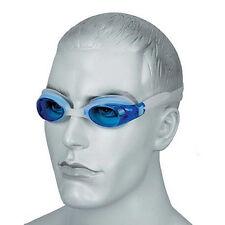 Lunettes de natation unisexe bleu tint osprey lentille lunettes silicone blanche tête strap