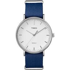 Timex TW2P97700, Men's Weekender Blue Fabric Watch, Indiglo, TW2P977009J