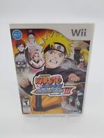 Naruto Shippuden: Clash of Ninja III (Nintendo Wii, 2007) CIB w/Manual Working