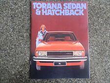 1978 HOLDEN UC TORANA (6 CYL) SALES  BROCHURE  100% GUARANTEE