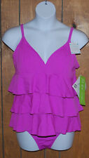 Fit 4 U Tankini Swimsuit Womens Plus 20 20W Tummy Control 2PC Sherbet NWT $118