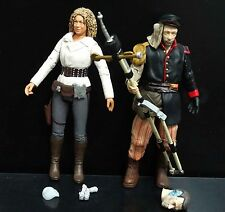 lot of 2 DOCTOR WHO  RIVER SONG UNCLE action figure #CF2
