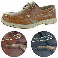 Sebago Men's Clovehitch Leather Moc Toe Slip On EVA Casual Boat Shoes